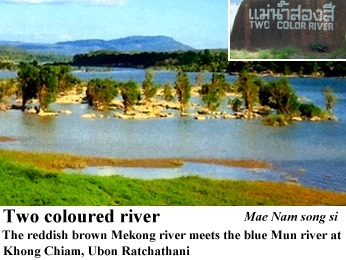 two coloured river