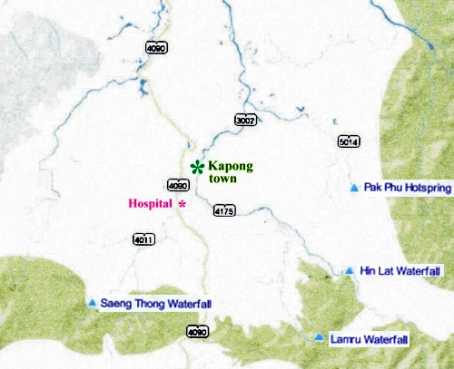Kapong Waterfall Map