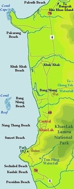 KhaoLak Thailand local map Khao Lak tourist information guide