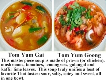 Tom Yum Goong and Tom Yum Gai