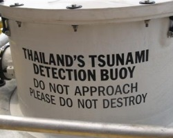 Thailand's first buoy