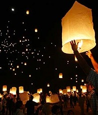 lantern releasing at Khao Lak