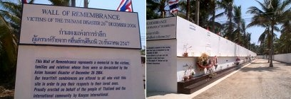 Tsunami Wall of Remembrance at Mai Khao Phuket