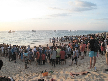 turtle releasing festival at Thai Muang Phang Nga